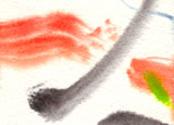 Detail from watercolour painting: 0h2-4.